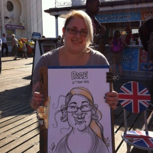 Brighton Pride caricature