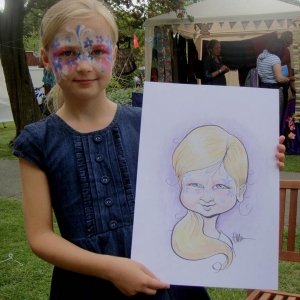 Festival party caricatures