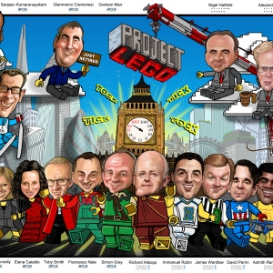 corporate caricature gift